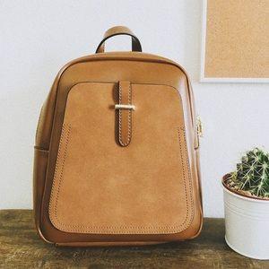 """Avery"" Brown Mini Backpack Purse"
